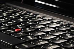 Laptopu klawiatury tło Obrazy Stock