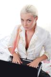 laptopu kobiety potomstwa Zdjęcie Royalty Free