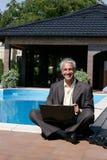 laptopu komputerowy mężczyzna Zdjęcia Stock