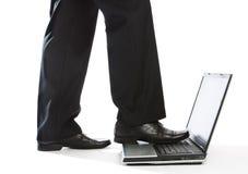 laptopu kroczenie Obraz Royalty Free