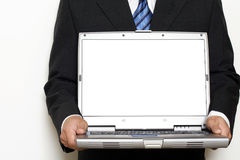Laptopu LCD ekranu Mockup Zdjęcie Stock