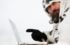 laptopu mężczyzna Obraz Royalty Free