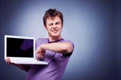 laptopu mężczyzna Obraz Stock