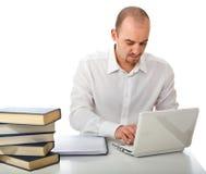 laptopu mężczyzna use zdjęcie royalty free