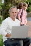 laptopu nauczyciel Obraz Stock