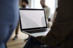 Laptopu networking wydarzenia Seminaryjny pojęcie Obraz Stock