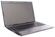 laptopu odosobniony biel Fotografia Stock