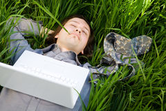 laptopu odpoczynek Zdjęcie Royalty Free
