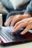 laptopu pisać na maszynie Obraz Stock