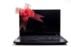 Laptopu Prezent fotografia royalty free