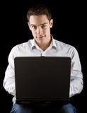 laptopu radia działanie Obraz Stock