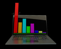 laptopu seans Obraz Royalty Free