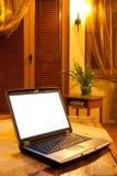 laptopu stół Zdjęcie Royalty Free