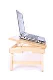 laptopu stół Obrazy Royalty Free