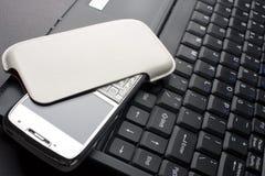 laptopu telefon komórkowy Zdjęcie Stock