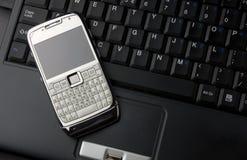 laptopu telefon komórkowy Zdjęcia Royalty Free