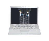 Laptopu utrzymania pojęcie Obraz Royalty Free