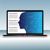 Laptopu wektorowy szablon dla prezentaci Obrazy Stock