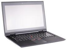Laptopu widok odosobniony Fotografia Royalty Free