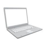 Laptopu widok odosobniony perspektywiczny Zdjęcie Royalty Free