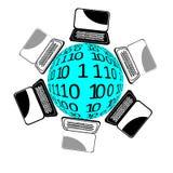 Laptopwelt Lizenzfreie Stockbilder
