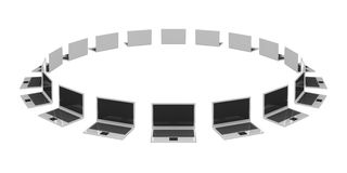 laptopy dużo Fotografia Stock
