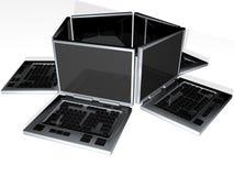 laptopy kwiatów Obraz Stock