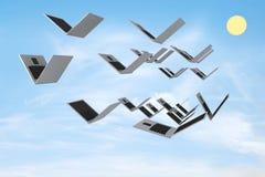 laptopy otwierają Obrazy Stock