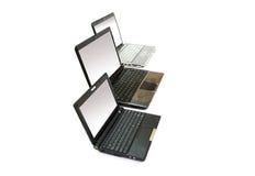 laptopy trzy fotografia royalty free