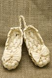 Lapty. Old Russian sandals, souvenir Stock Photography