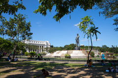 The Lapu Lapu Monument. At Rizal Park in Ermita in Manila, The Philippines Royalty Free Stock Image