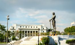 Lapu-Lapu Monument in Rizal Park - Manila, the Philippines. The Statue of the Sentinel of Freedom or the Lapu Lapu Monument in Rizal Park - Manila, the stock photos