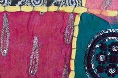 Lapwerk, Indische textiel Royalty-vrije Stock Foto