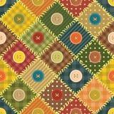 Lapwerkachtergrond met verschillende patronen Royalty-vrije Stock Foto's