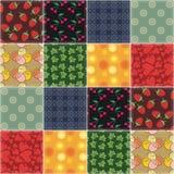 Lapwerkachtergrond met verschillende patronen royalty-vrije illustratie