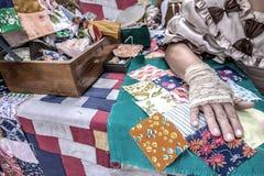 Lapwerkproces Vakmanschap en artisans royalty-vrije stock foto's