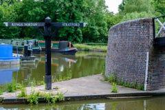 Lapworth-Kanal-Kreuzung Lizenzfreies Stockbild
