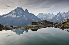 Laque Blanc - Alpes français Photographie stock libre de droits