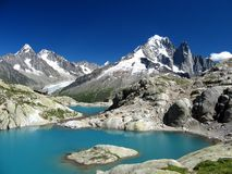 Laque Blanc, Chamonix, France Image stock