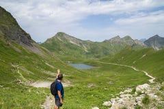 Laque Vert, Valais, Suisse Photographie stock
