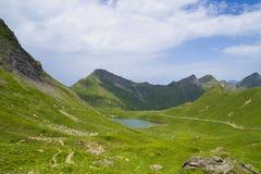 Laque Vert, Valais, Suisse Photos stock