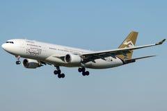 5A-LAR libyska flygbolag, flygbuss A332-202 Royaltyfri Fotografi