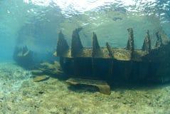 lara återstår skeppsbrott royaltyfria foton