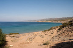 Lara Bay Beach in Cyprus Royalty Free Stock Photos