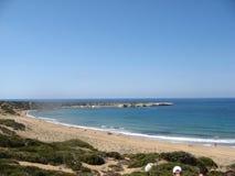 Lara Bay Cypern - en av de bästa stränderna royaltyfri fotografi