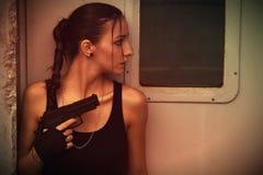 Lara Croft Cosplay Στοκ Φωτογραφίες