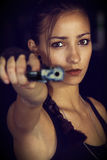 Lara Croft Cosplay Στοκ εικόνα με δικαίωμα ελεύθερης χρήσης