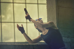 Lara Croft Cosplay Fotografia Royalty Free