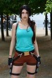 Lara Croft Voleur de tombe Cosplay MCM Comiccon Londres photos stock