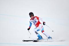 Lara-Darm auf FIS alpinem Ski-Weltcup 2011/2012 Stockbild